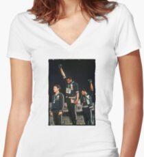 1968 Olympischen Spiele Gruß für Menschenrechte Shirt mit V-Ausschnitt