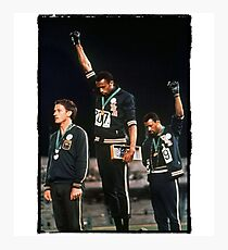 1968 Olympics Salute for Human rights  Photographic Print