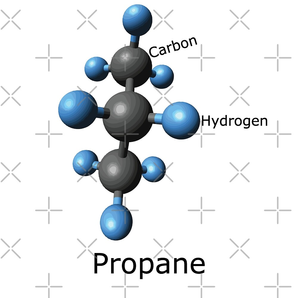 Propane Molecule (and Propane accessories?) by cartoon