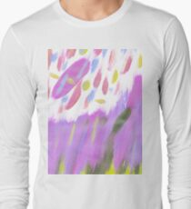 Hand painted  neon pink lime green watercolor brushstrokes T-Shirt