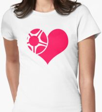 Alloy Love Heart Womens Fitted T-Shirt