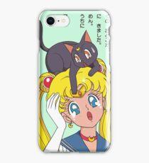 Sailor Moon and Luna Design iPhone Case/Skin