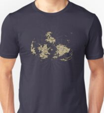 FF7 Vintage Map V01  T-Shirt