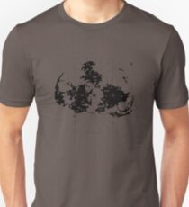 FF7 Vintage Map - Black Edition T-Shirt