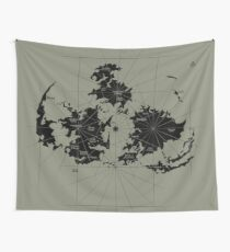 FF7 Vintage Map - Black Edition Wall Tapestry