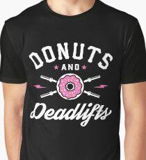 Donuts und Deadlifts Grafik T-Shirt