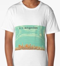 los angeles travel poster 4 Long T-Shirt