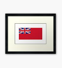 Red Ensign, NAVY, Merchant Navy, Flag, Red Duster, Royal Navy Flag,  Framed Print