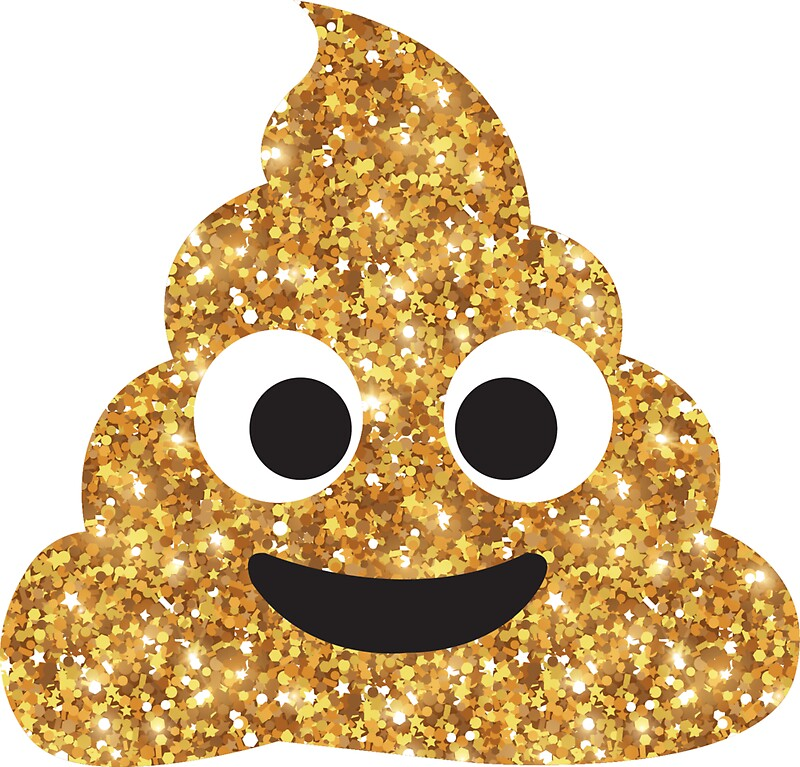 Quot Glitter Poop Quot Stickers By Vyhdesign Redbubble