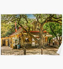Luckenbach Texas General Store and Saloon Poster