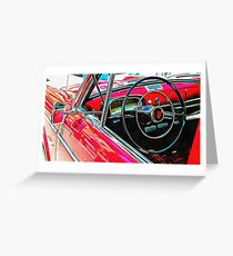 Fiat 1100D Through The Window Greeting Card