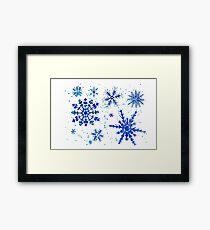 Copos de nieve Framed Print