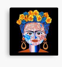 Fractured Frida (Frida Kahlo) Canvas Print