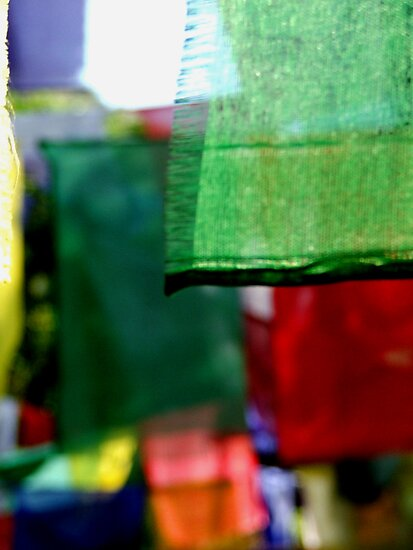 Abstract Prayer Flags 1  (Limited Edition Print of 50) by Michelle Walsh