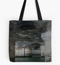 on the seine, under the streets Tote Bag