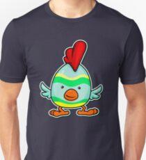Animal Fun - Happy Chicken Striped T-Shirt