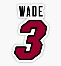 Dwyane Wade Heat Jersey Sticker