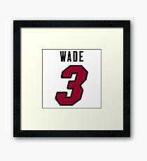 Dwyane Wade Heat Jersey Framed Print