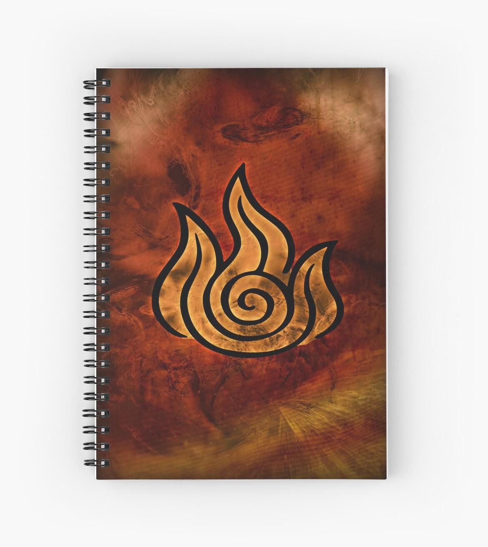 Avatar symbol fire element spiral notebooks by mcashe redbubble avatar symbol fire element by mcashe buycottarizona