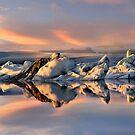 Sunset at Jokulsarlon by Peter Hammer