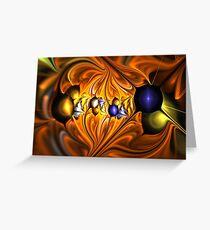 Orange Sun Leaves Greeting Card