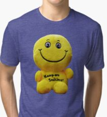 Keep on Smiling! - Happy Face Tri-blend T-Shirt
