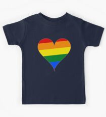 Rainbow Pride Heart Kids Clothes