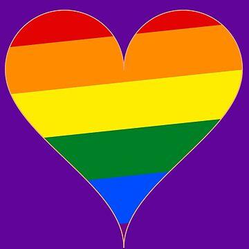 Rainbow Pride Heart by funnyfuntees