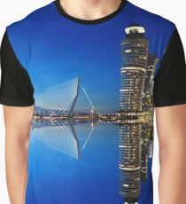 Rotterdam Night Skyline  Graphic T-Shirt