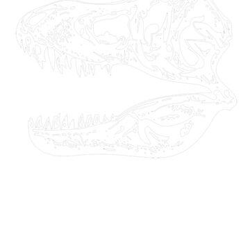 T Rex Skeleton Skull by funnyfuntees