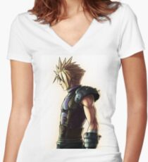 Cloud strife Artwork  Women's Fitted V-Neck T-Shirt