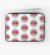 Red Retro Lips Laptop Sleeve