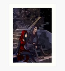 The Raven and their Mate Art Print