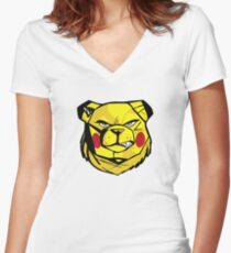 ROBUST BEAR PIKA Women's Fitted V-Neck T-Shirt