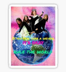 Weirdos Rule the World Sticker