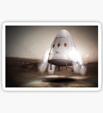 SpaceX Red Dragon Landing On Mars Sticker