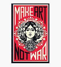 MAKE ART NOT WAR  Photographic Print