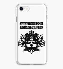 """Joss Whedon Is My Shrink"" - Dark iPhone Case/Skin"
