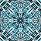 Silver Blue Kaleidoscope  by Beatriz  Cruz
