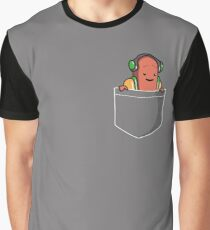 Dancing Hot Dog Pocket Graphic T-Shirt