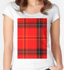 PLAID COLOURS 4 Women's Fitted Scoop T-Shirt
