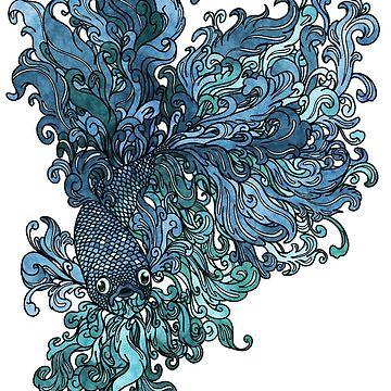 Betta Splendens - Blue by Kanamey