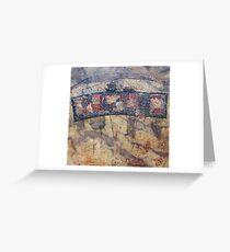 Gondwana encaustic stitched Greeting Card