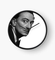 Salvador Dali Moustache Clock Clock