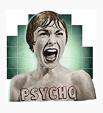 Alfred Hitchcock- Psycho Photographic Print