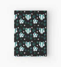 Badger prints in teal Hardcover Journal