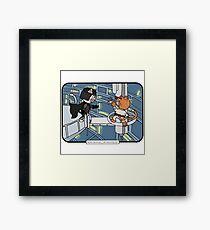 Star Paws: Episode V - The Empire Strokes Back | @CatTheMovies Framed Print