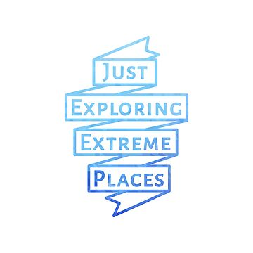 Erforsche nur extreme Orte - Jeep Banner (Blue Outline) von its-anna