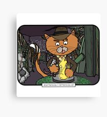 Mousers of the Lost Ark | @CatTheMovies Canvas Print
