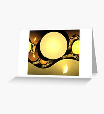 Gold Cave Spheres Greeting Card